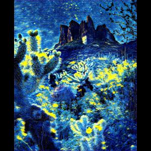 Nachthimmel über Arizona, USA