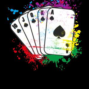 Kartenspiel farbig