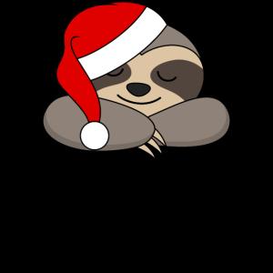 Faultier Weihnachtsmann Buon Naptale Weihnachten