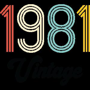 Jahrgang 1981 Geburtstag