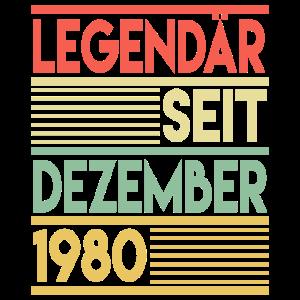 40. Geburtstag Dezember 1980 Geschenk Geschenkidee