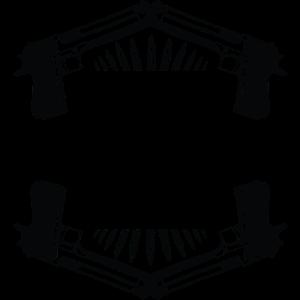 Moleon Techno Regeln Pistolen schwarzes Logo