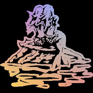 Farbe Meerjungfrauen