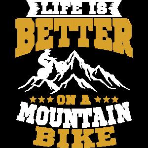 Mountainbike Fahrradfahrer Spruch Geschenk