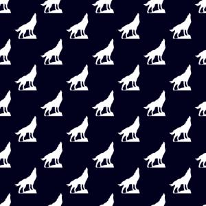 heulender Wolf Muster