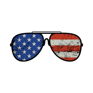 Sonnenbrille Stars and Stripes