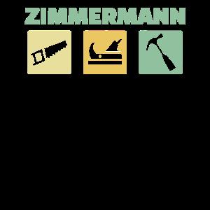Zimmermann Holz Handwerker Tischler Säge