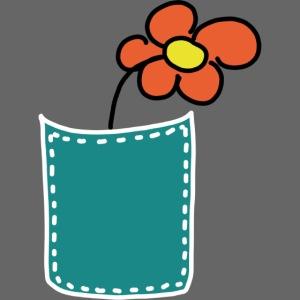 Brusttasche Blume