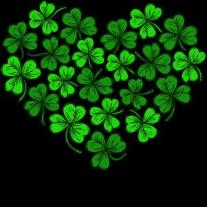 Ich Liebe St. Patricks Day Herz Kleeblätter Patty
