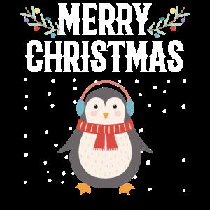 Frohe Weihnachten - Weihnachten Pinguin Schnee