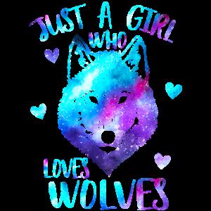 Nur ein Mädchen, das Wölfe liebt