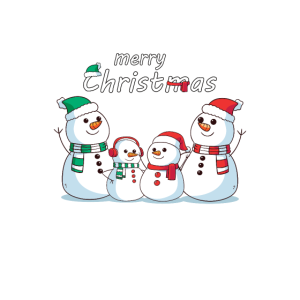 Weihnachten Schneemann Familie Cartoon Design