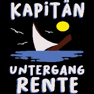 Kapitän Captain Schiff Boot Rente Marine Geschenk