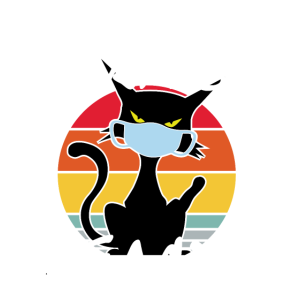 Funny Retro Vintage Happy Face Cat Mask Gift