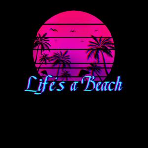 Life's A Beach Retro Palm Trees Geschenk