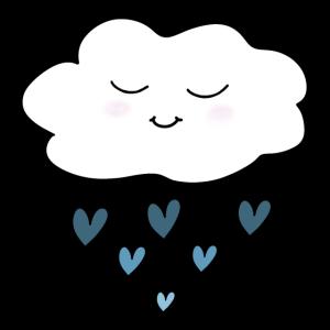 glückliche Wolke blau