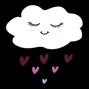 glückliche Wolke rosa