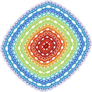 Order Chaos Art Diamond Square 4581j