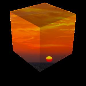 Sonnenuntergang Würfel / Natur