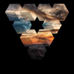 Sonnenuntergang Dreieck / Natur / Geschenk