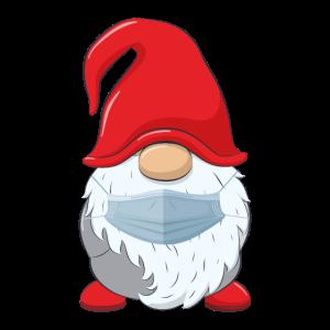 Weihnachtsmann mit Mundschutz
