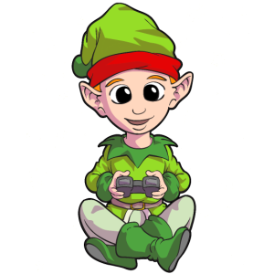Weihnachten Weihnachts Elf Gamer Gaming