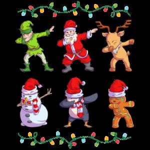 Weihnachten Weihnachtsmann Dabbing
