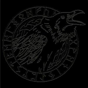 Wikinger Rabe Runen