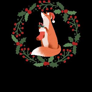 Fuchs freut sich auf Weihnachten