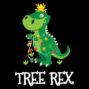 Lustiges Tree Rex Weihnachten T-Rex Dinosaurier Xm