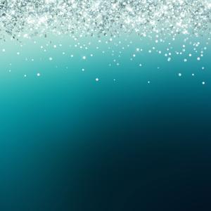 Silver Glitter Blue Gradient Pretty Fancy