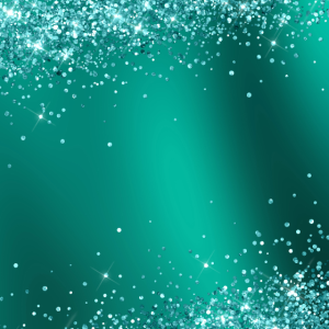 Teal Glitter Gradient Pretty Fancy Sparkling