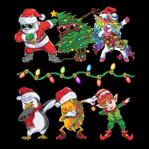 Lustiger Dabbing Santa Elf Taco Pinguin Weihnachte