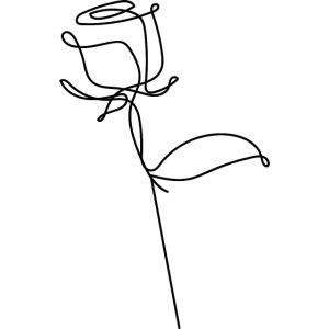 Logo Rose au Trait