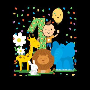 Geburtstag Baby - 1. Geburtstag Zoo