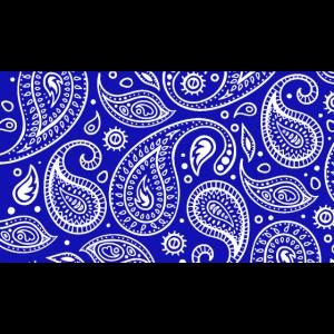 Paisley blaue Bandana Gesichtsmaske