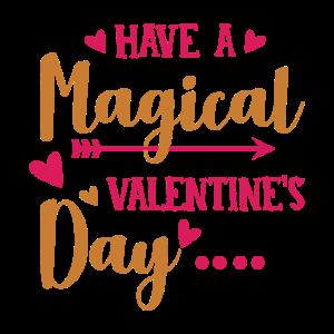 Haben Sie einen magischen Valentinstag