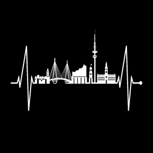 Hamburg Maske Skyline Herzschlag Mundschutz Moin