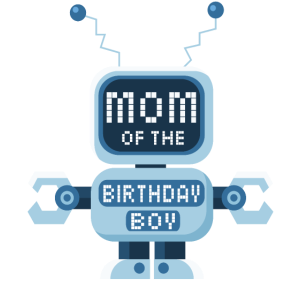 Mutter des Geburtstags-Jungen-Roboterliebhabers Bday Party