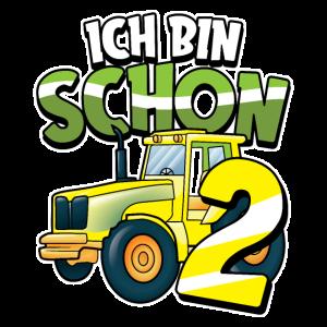 2. Geburtstag Traktor Trekker Junge Land Geschenk
