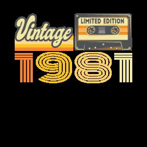 Vintage 1981 Kassette Mixtape - 39. Geburtstag