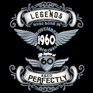 Geboren 1960 November Geschenk zum 60. Geburtstag