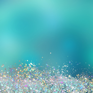 Teal Holographic Glitter Gradient Pretty Fancy