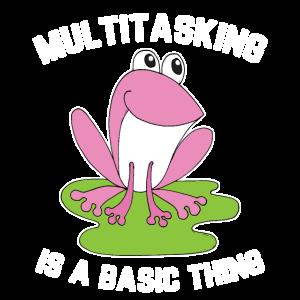 Frosch Multitasking King Mann Aufgaben Geschenk