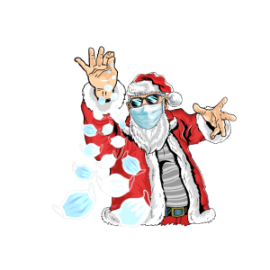 Weihnachtsmann Salt Bae Mundschutz