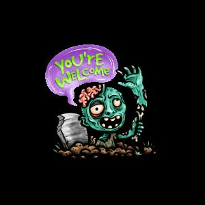 Zombie kommt aus dem Grab