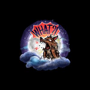 Werwolf, der seinen Ohren nicht trauen kann