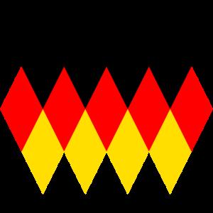 Deutschland Retro Vintage Muster Fahne Flagge