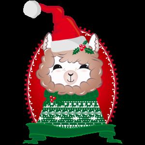 zauberhaft weihnachtlich geschmücktes Alpaka