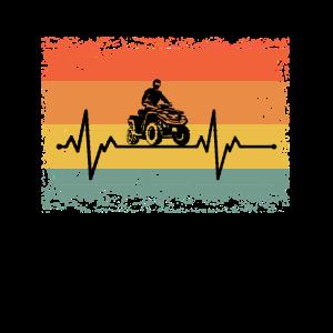Cool Heartbeat Quad Biker Retro Geschenkidee
